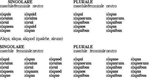 quem latino declinazione
